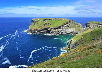 Tintagel Island, North Cornwall, United Kingdom