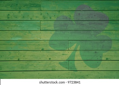 Tinted Shamrock on a Wall