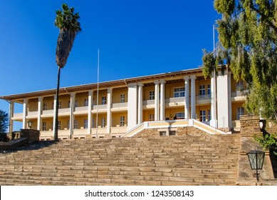 "The Tintenpalast (German for ""Ink Palace"") is the seat of both chambers of the Parliament of Namibia, the National Council and the National Assembly in the capital city, Windhoek"