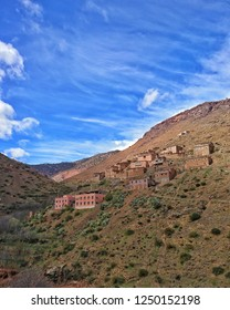 tiny Berber village located in the High Atlas mountains Morocco