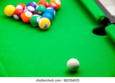 Tiny billiards game toy