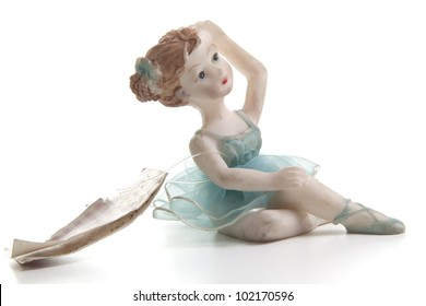 tiny dancer shaped souvenir on withe background