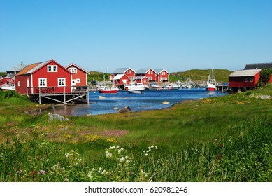 Tiny fishing hamlet of Nes in Unesco World Heritage-listed island of Vega in Norway.