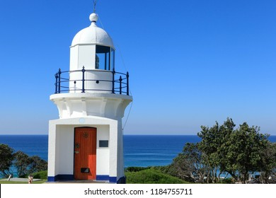 A tiny lighthouse on the headland at Ballina, NSW, Australia, crisp and meticulously maintained , has stood the test of time and still guides sailors to safety.