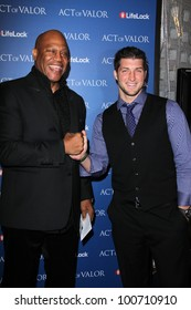 """Tiny Lister, Tim Tebow at the """"Act Of Valor"""" Los Angeles Premiere, Arclight, Hollywood, CA 02-13-12"""