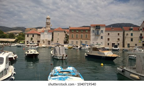 Tiny  marina in Kastel, Dalmatia, Croatia
