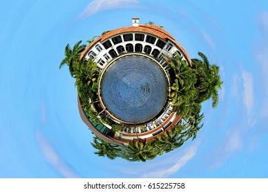 Tiny Planet Mansion Houses and Real Estate World