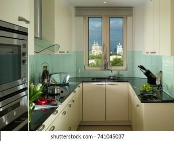 Tiny smart modern kitchen decor