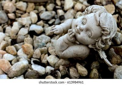 Tiny stone angel
