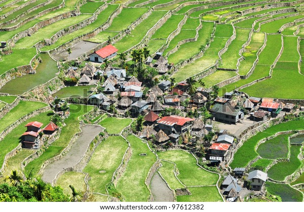 Tiny Village Batad Rice Terraces Ifugao Stock Photo Edit