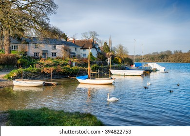 The tiny village of St Clement situated on the banks of the Tresillian River near Truro