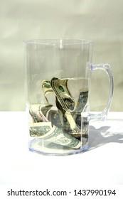 Tip Jar. Beer Mug Tip Jar. Money as gratuity for a job well done. donations.