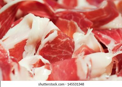 Tipical spanish ham, jamon iberico