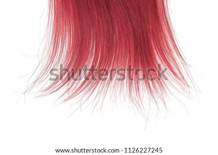 Tips Red Hair On White Background Stock Photo Edit Now 1126227245