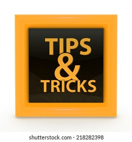 Tips & tricks square icon on white background