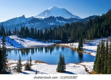 Tipsoo Lake and Mt. Rainier