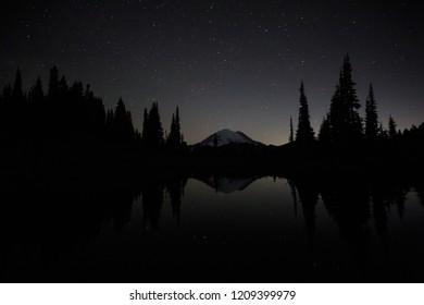 Tipsoo Lake Reflecting The Night Sky
