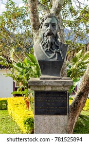 Tiradentes, Minas Gerais, May 2, 2013. Joaquim Jose da Silva Xavier, also known as Tiradentes, Martyr of the Independence of Brazil, names its home town, where his bust was installed.