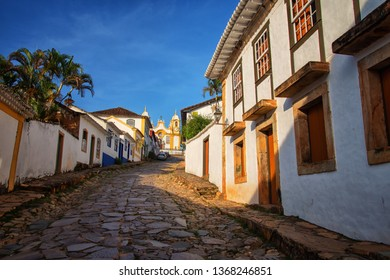 Tiradentes/MG/Brazil - 27th March 2019: Tiradentes, Traditional Historic Town in Minas Gerais State