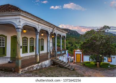 Tiradentes/MG/Brazil - March 27th 2019: Casa Padre Toledo Museum in Tiradentes Historic City, Minas Gerais State