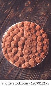 Tiramisu in baking dish