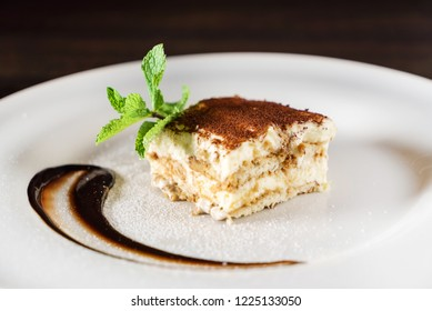 tiramisu cake with coffee