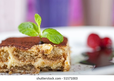 Tiramisu dessert a la carte