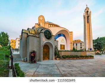 Tirana, Albania - June 1, 2018: Resurrection of Christ Orthodox Cathedral in Tirana.Tirana is capital of Albania.