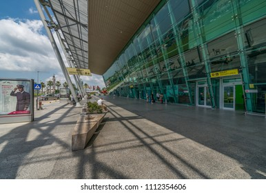 Tirana, Albania - June 2, 2018: Tirana International Airport Nene Tereza, commonly Rinas International Airport, s Albania's main international airport.