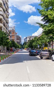 Tirana / Albania - June 23 2018: Sunny day in Tirana