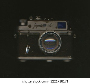 Tirana, Albania - September 5 2018: Zorki-4 viewfinder camera
