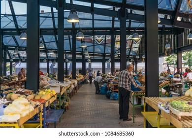 Tirana Old Market - Pazari i Ri - Tirana / Albania - June - 2017