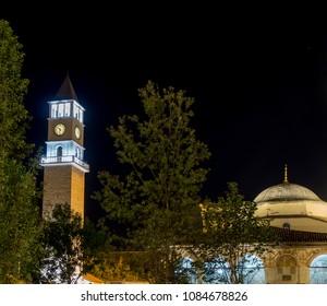 Tirana Tower Clock and Et'hem Bey Mosque