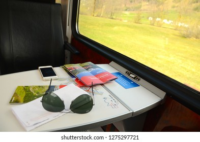 Tirano, Italy - April 6th, 2014: This photo was taken inside the train that connects Italy to Switzerland.