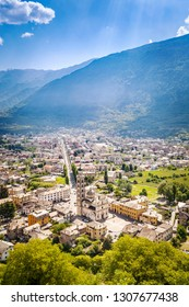 Tirano - Valtellina (IT) - View of the Basilica from above