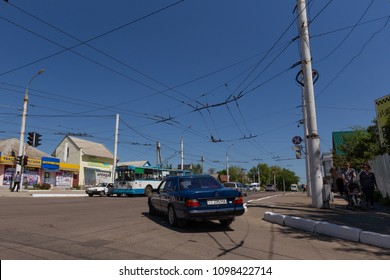 Tiraspol, Tirapsol / Transnistria - 04 28 2018 - Road in Tiraspol