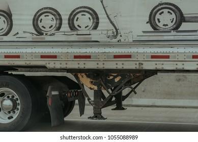 Tire Art on a Semi Truck