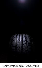 Tire Car on black background