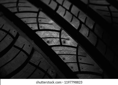 tire of car texture closeup