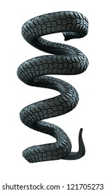 tire in the form of a snake