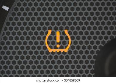 tire pressure warning light, car interior,