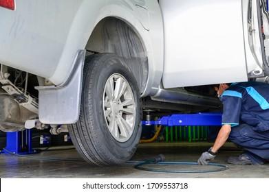 Tire repair station Bangkok Thailand