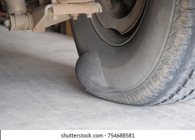 Tire swelling due to expiration