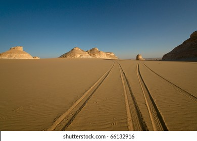 Tire track on Sand