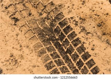 Tire tracks in Dry Mud - taken in Reykjanes, Iceland