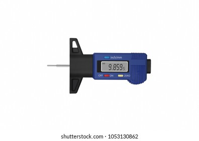 Tire tread depth gauge