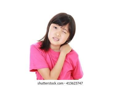 Tired Asian girl