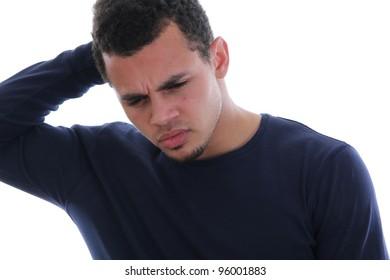 tired black man
