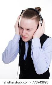 Tired call center operator