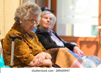 Tired elderly women and free time